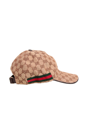 Gucci Original GG Canvas Baseball Cap with Web