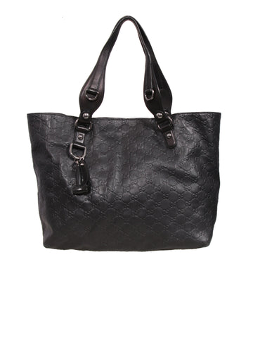 Gucci Embossed Leather Tote Bag