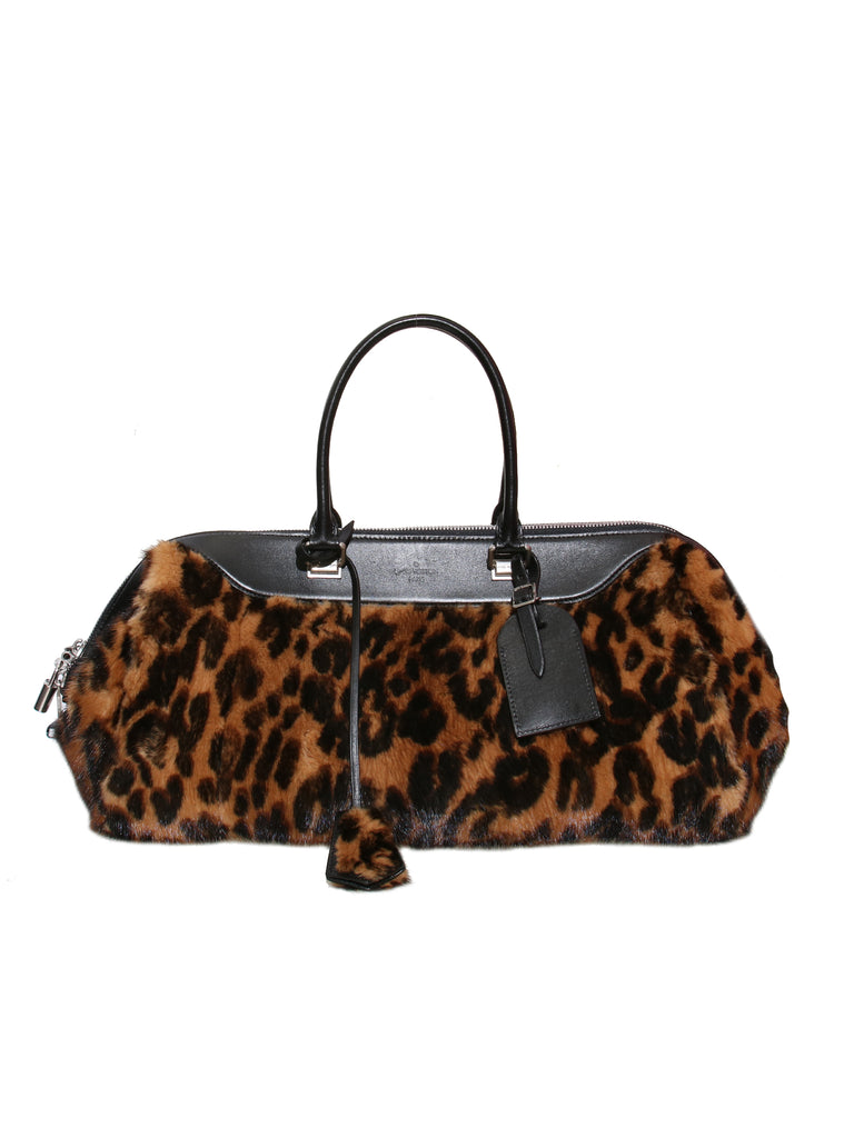 Louis Vuitton Leo East West Leopard Mink Tote