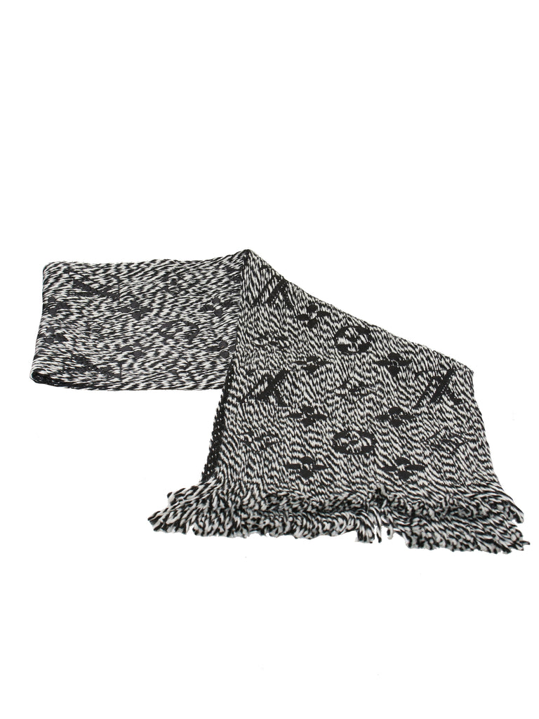 Louis Vuitton Wool and Silk Monogram Scarf