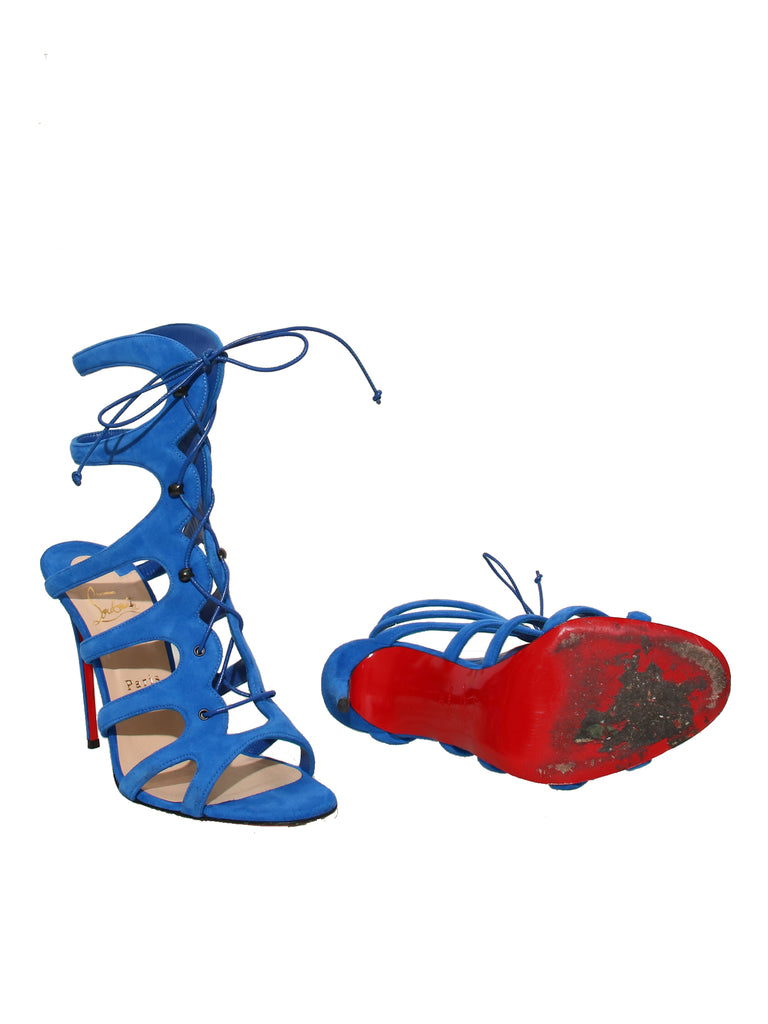 Christian Louboutin Suede Cage Sandals
