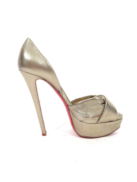 Christian Louboutin Metallic d'Orsay Pumps (now on sale!)