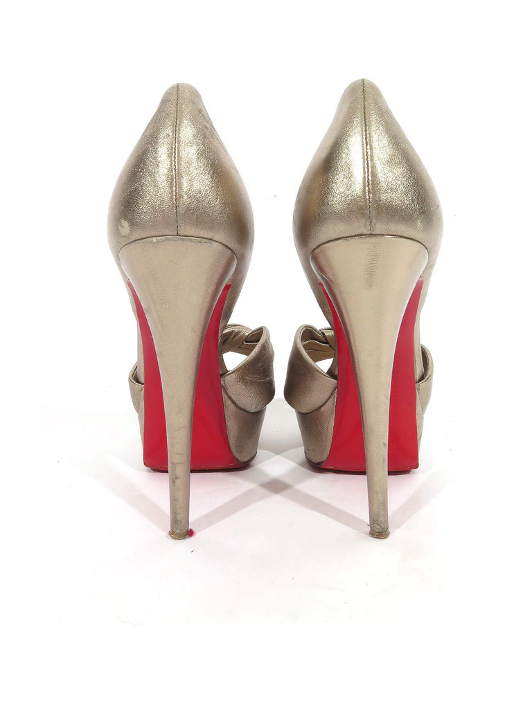 Christian Louboutin Metallic d'Orsay Pumps