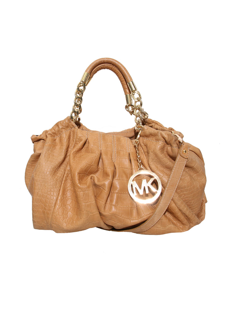 Michael Kors Embossed Leather Shoulder Bag