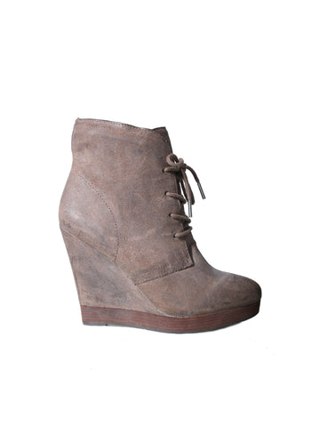 Michael Kors Channing Lace-Up Wedge Bootie