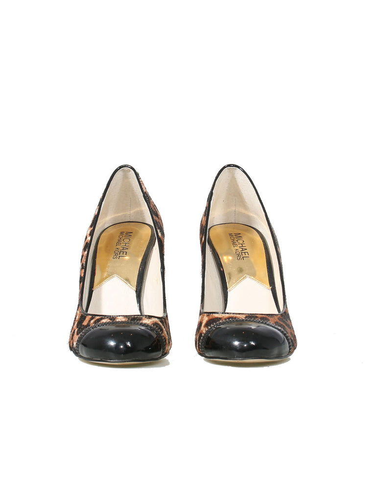 Michael Kors Leopard Round-Toe Pumps