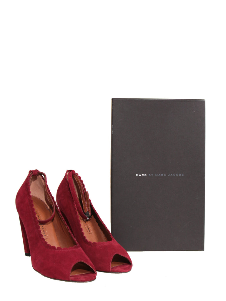 Marc by Marc Jacobs Suede Peep-Toe Pumps