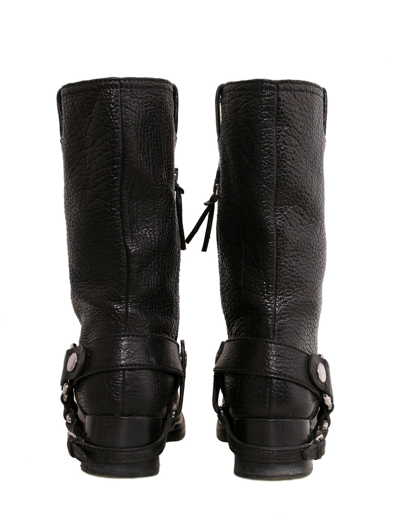 Miu Miu Leather Mid-Calf Boots