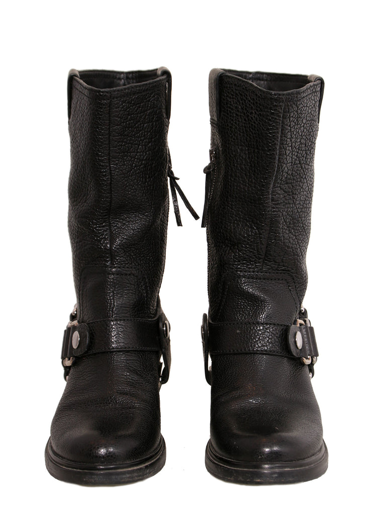 Miu Miu Leather Mid-Calf Boots clearance fast delivery top quality cheap price really cheap price low shipping fee cheap price buy cheap visit PInH1937dE