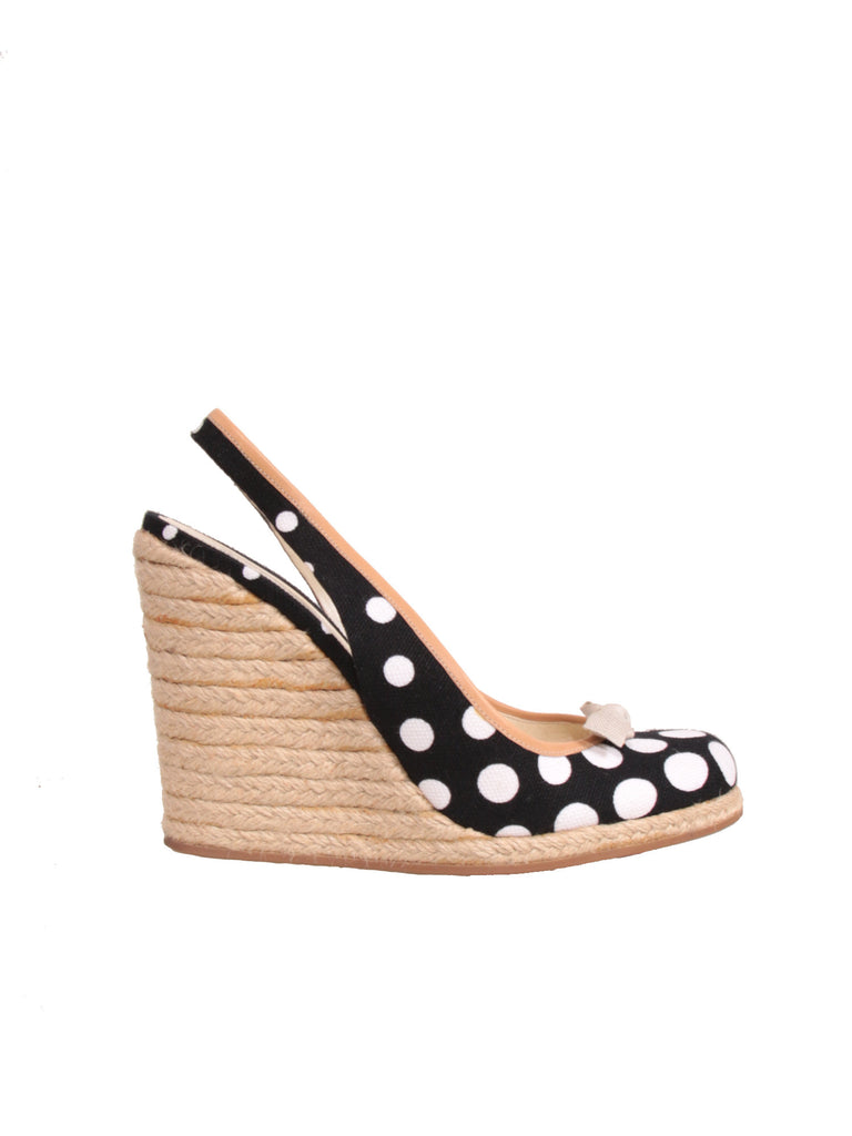 Miu Miu Polka Dot Wedges