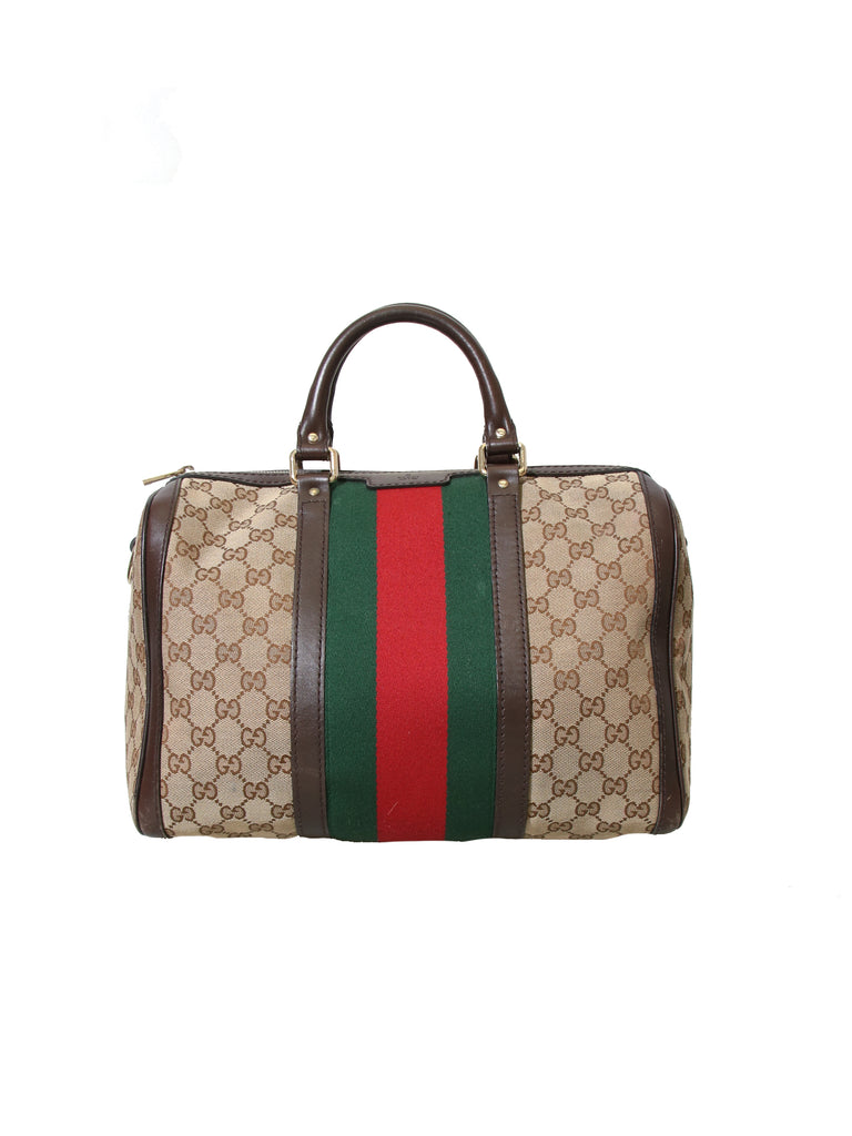 248ec0e13f Pre-owned Gucci Vintage Web Original GG Boston Bag – Sabrina s Closet