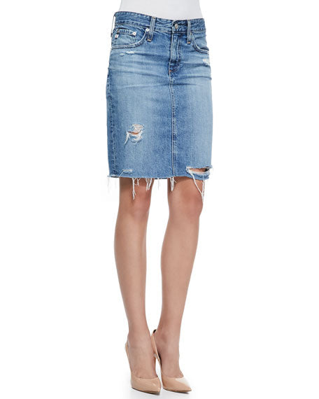 Adriano Goldschmied Erin Denim Pencil Skirt