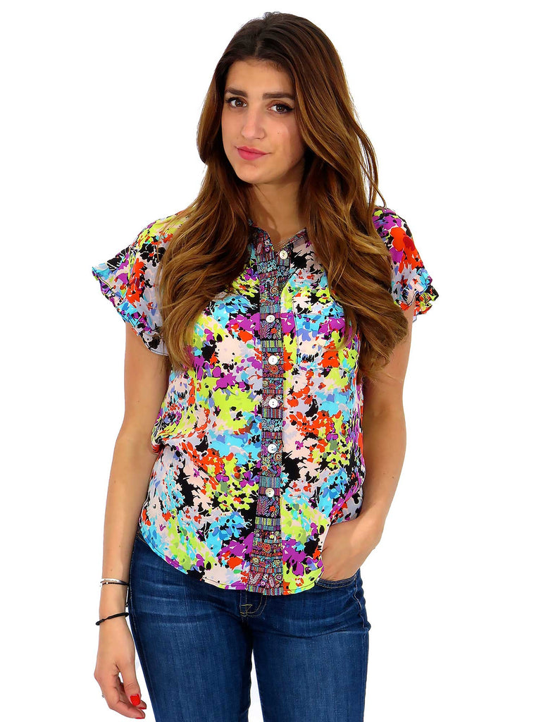 Nanette Lepore Printed Floral Blouse