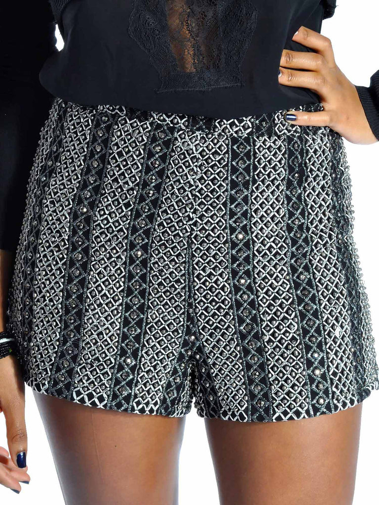 Topshop Beaded Shorts