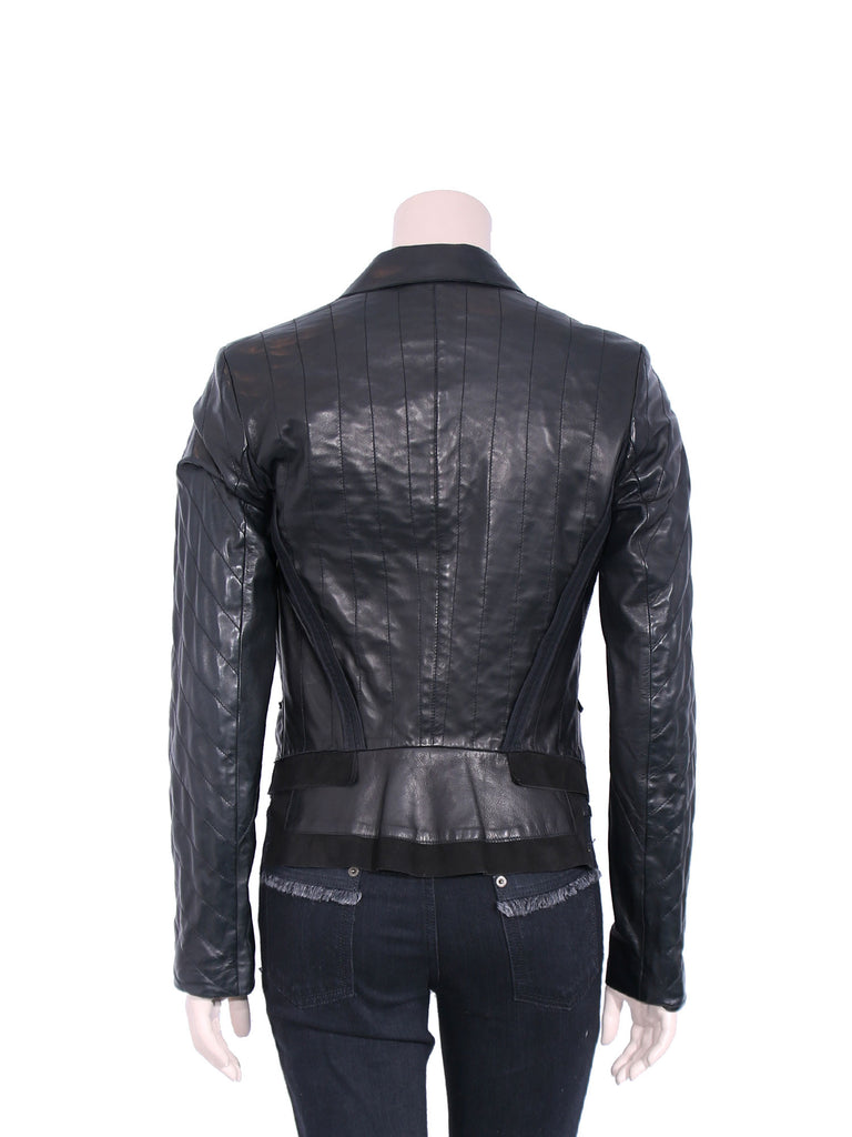 Roberto Cavalli Leather and Suede Jacket