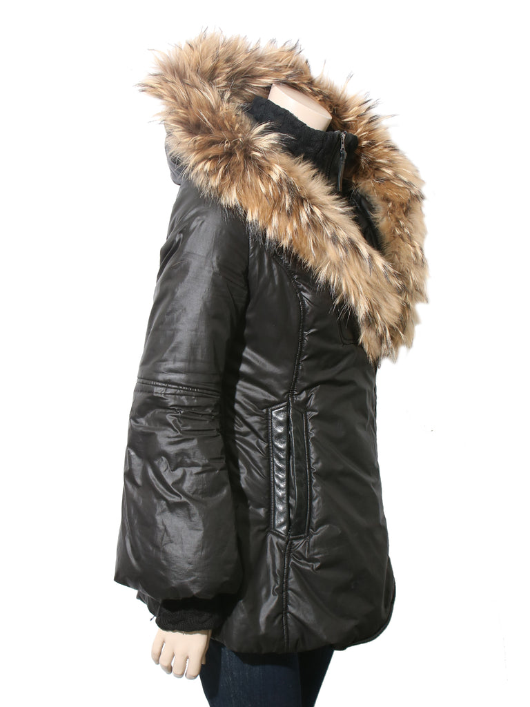 Winter Down Coat with Fur Hood