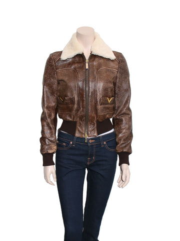 Valentino Aviator Leather Jacket