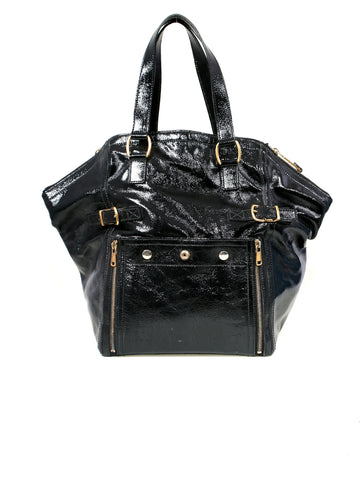 Yves Saint Laurent Downtown Patent Leather Tote Bag