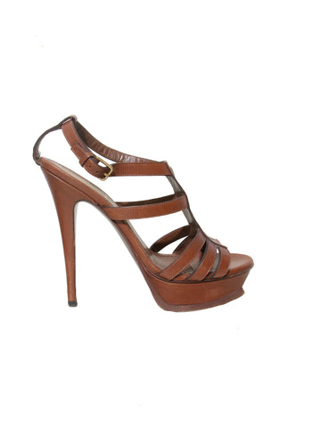 Yves Saint Laurent Leather Platform Sandals