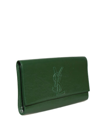 YSL Belle de Jour Patent Leather Clutch Bag