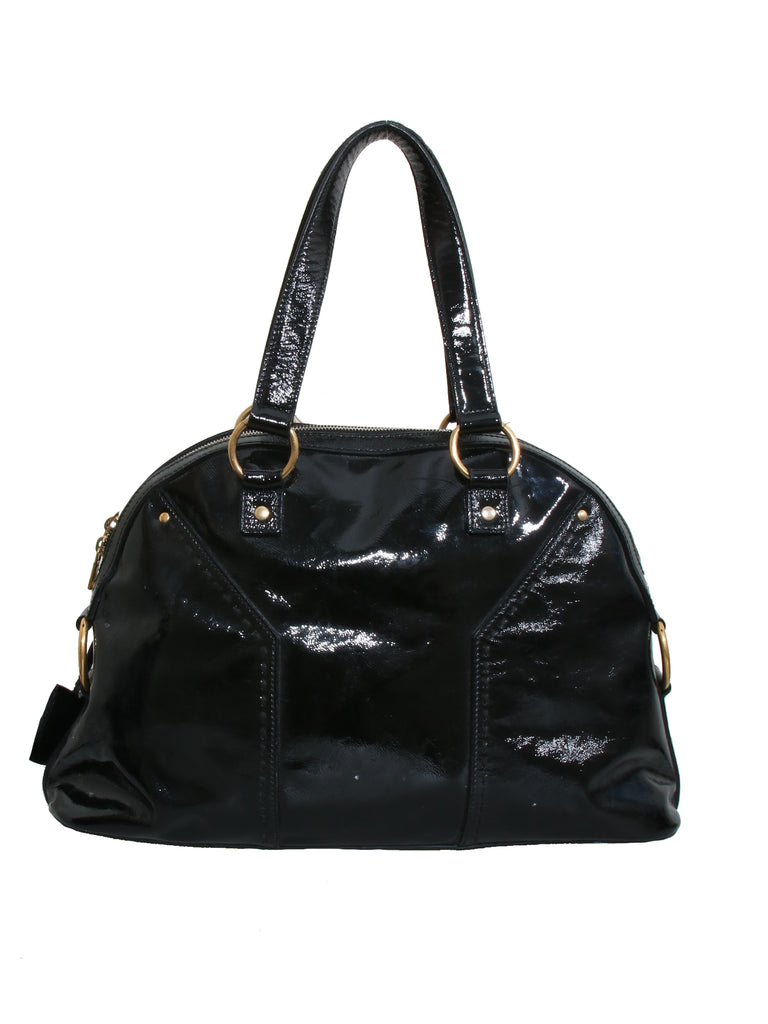 Yves Saint Laurent Patent Leather Muse Bag