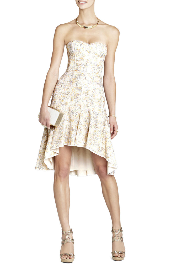 BCBG MaxAzria Bryleigh Strapless Sequined Lace Dress