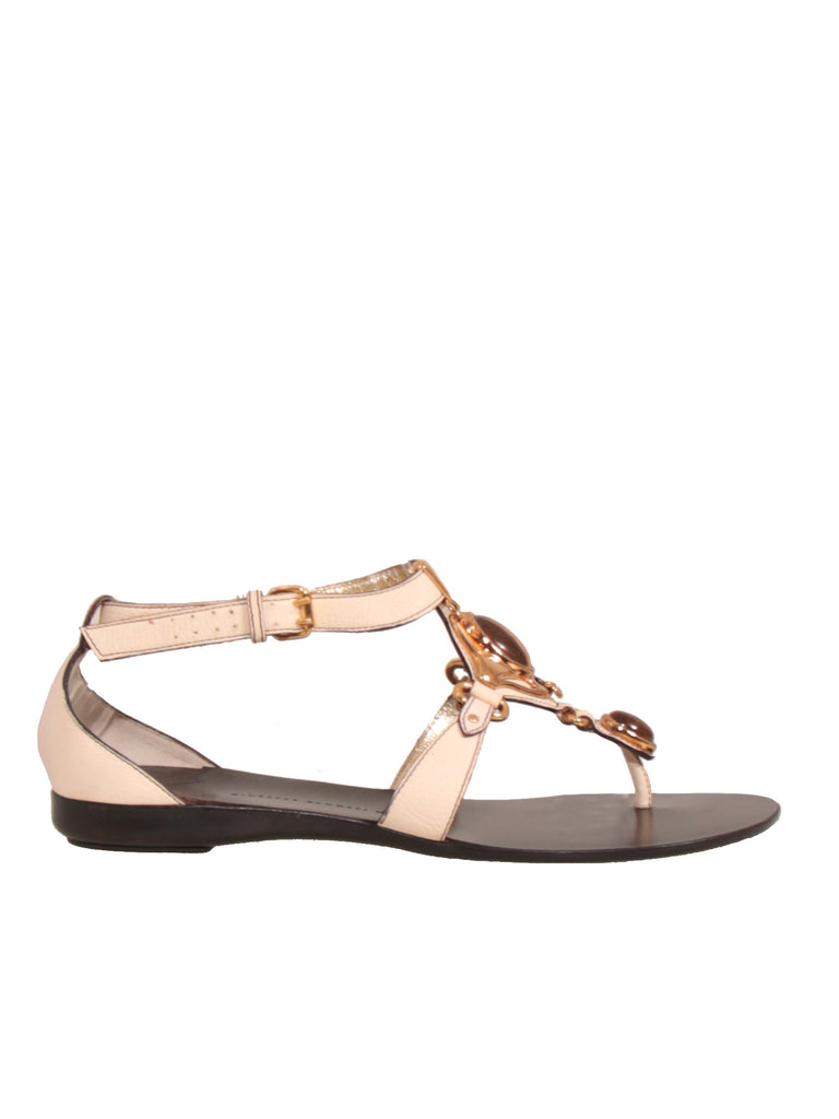 Giuseppe Zanotti Embellished Leather Sandals