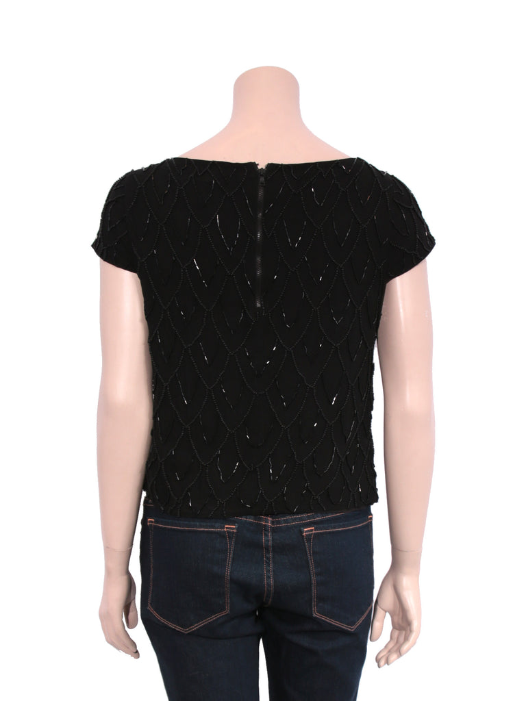 alice + olivia Silk Beaded Top