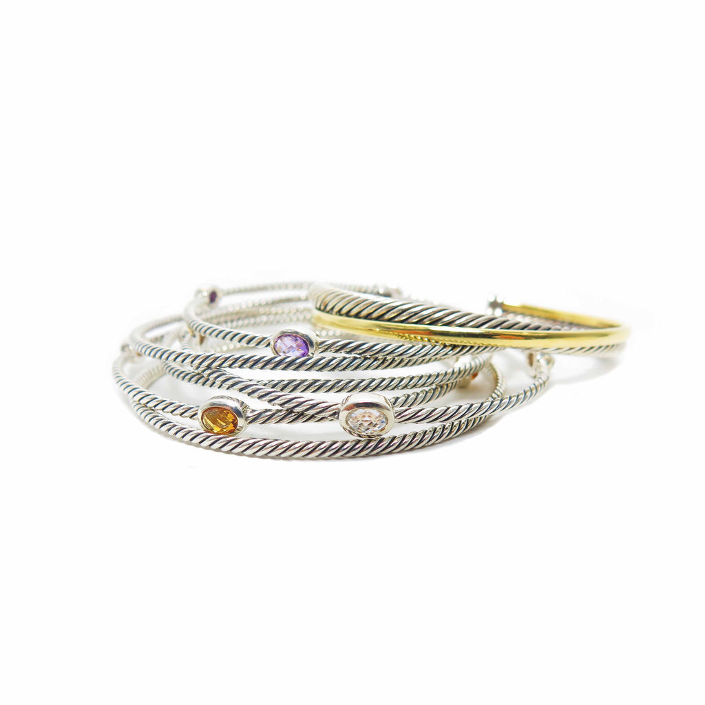 David Yurman Color Classics Bangles with Crystal
