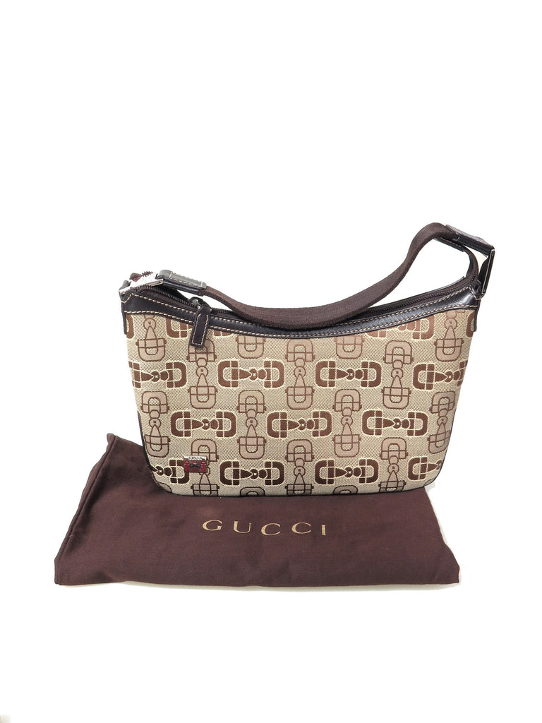Gucci Canvas Shoulder Bag
