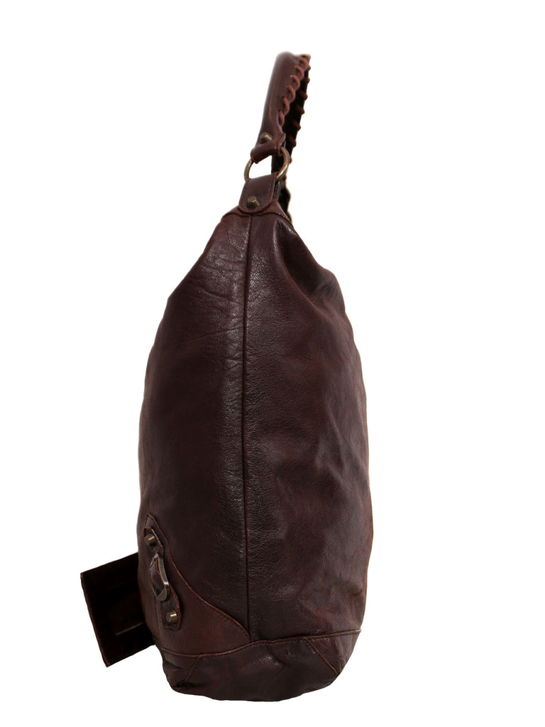 Balenciaga Motocross Classic Day Leather Hobo