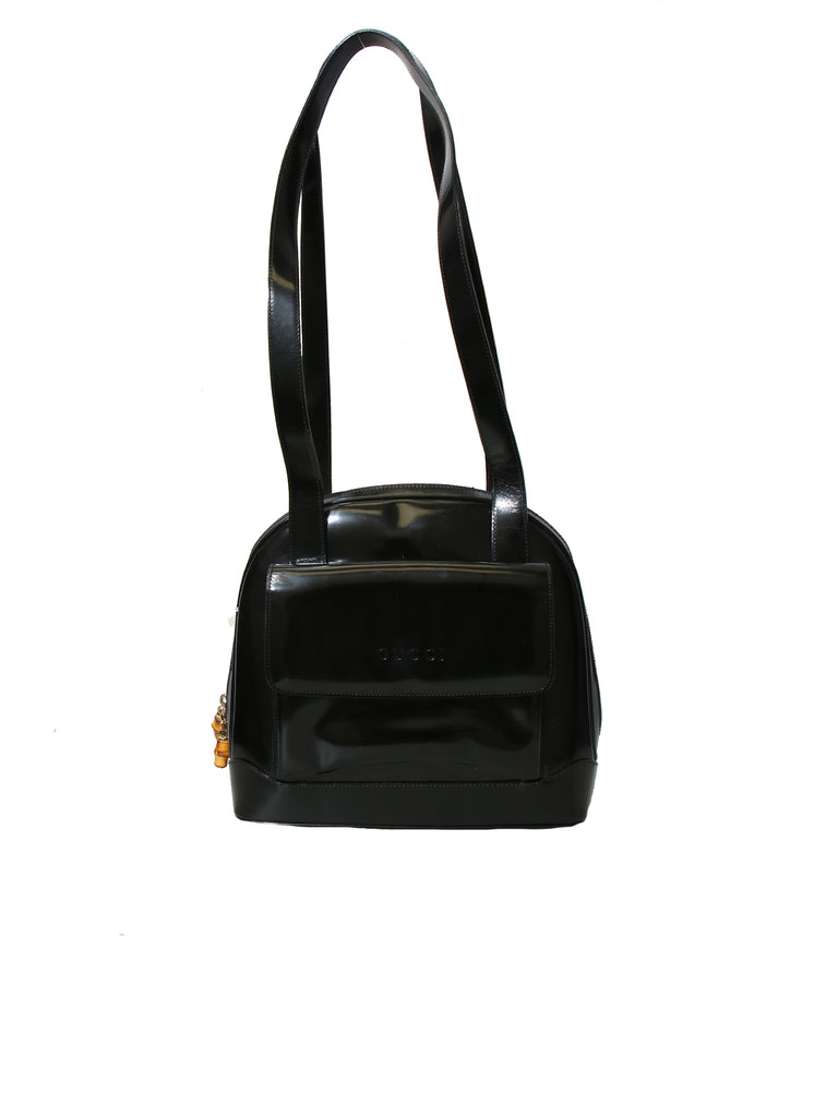 Gucci Vintage Patent Leather Shoulder Bag