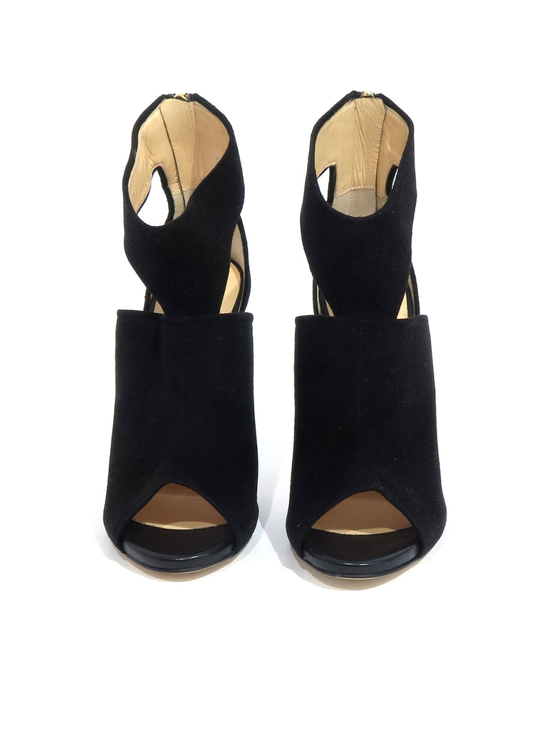 Barneys New York Suede Cut-Out Sandals