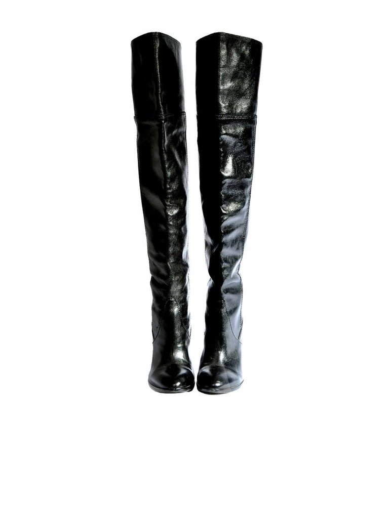 BCBG MaxAzria Thigh-High Leather Boots