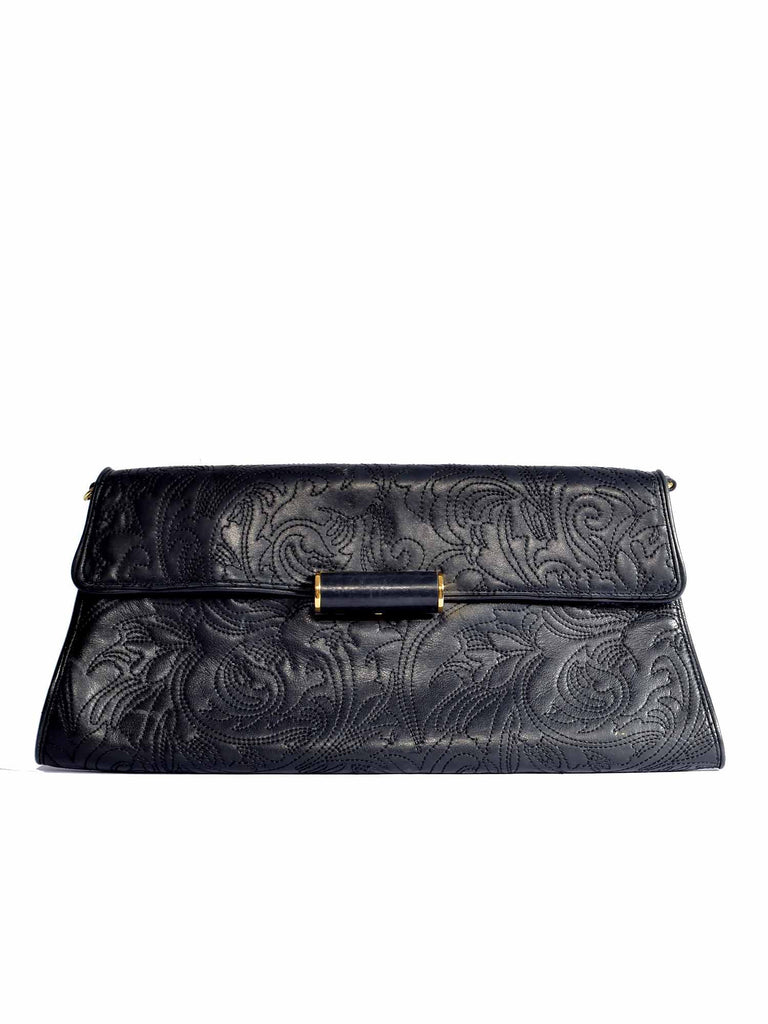 BCBG MaxAzria Oversize Embroidered Envelope Clutch