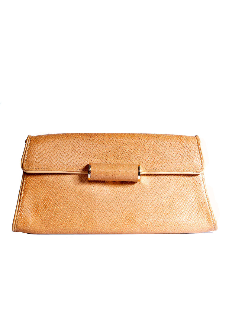 BCBG MaxAzria Lizard-Effect Envelope Clutch