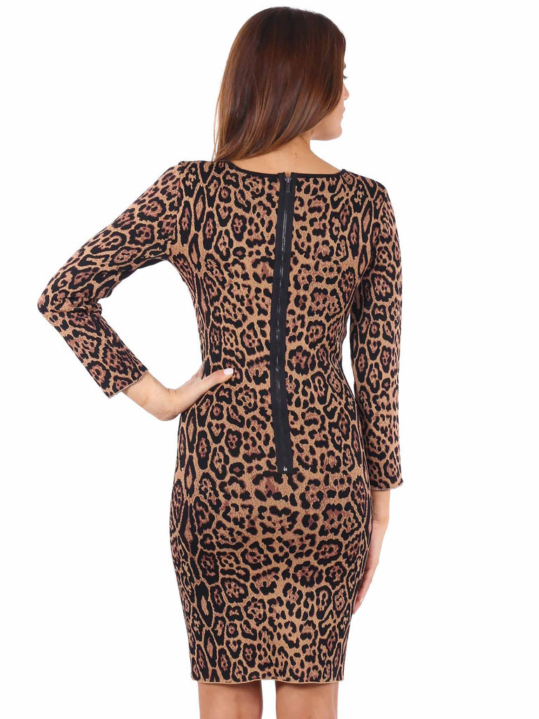 BCBG MaxAzria Sheena French Leopard Dress