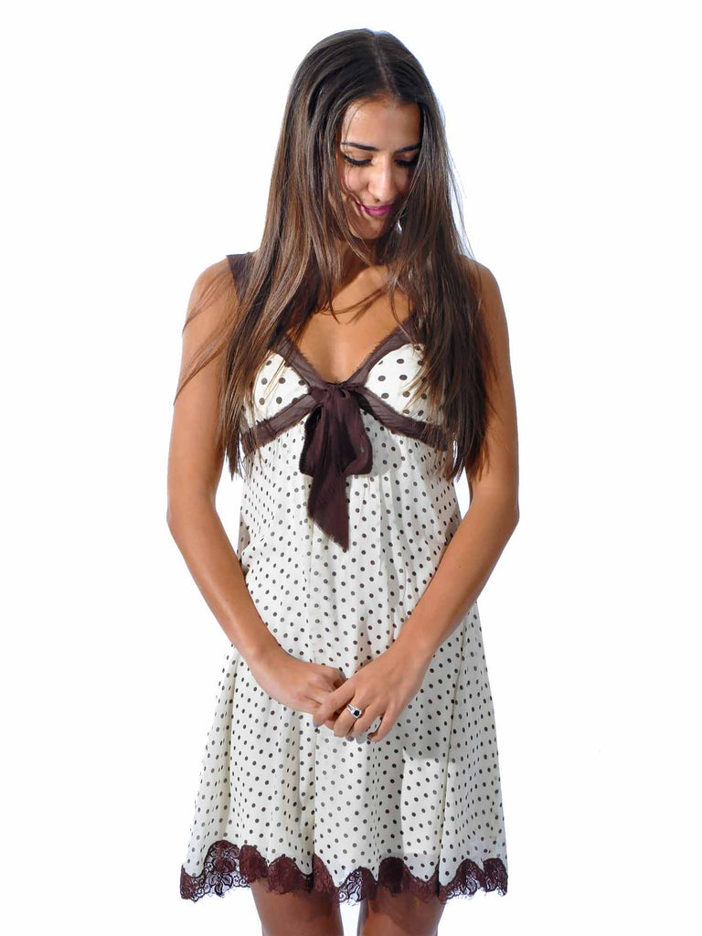 BCBG MaxAzria Polka-Dot Silk Dress