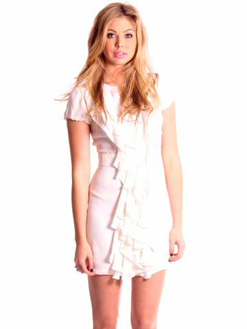 BCBG MaxAzria Button Down Ruffle Dress