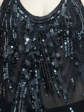 BCBG MaxAzria Silk Sequin Tank Top