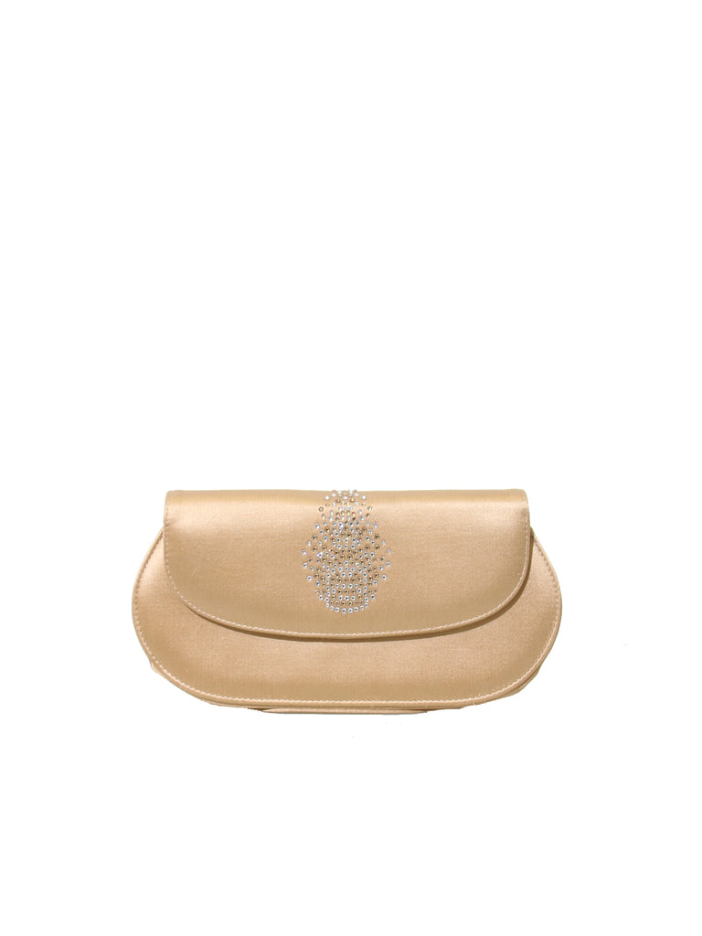 Stuart Weitzman Satin Embellished Clutch Bag