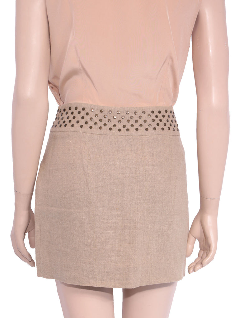 Michael Kors Studded Linen Skirt