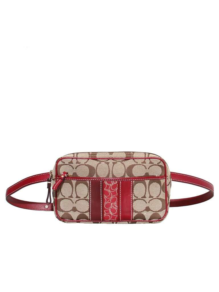 dc52cbd3a76a Pre-owned Coach Monogram Canvas Belt Bag – Sabrina s Closet