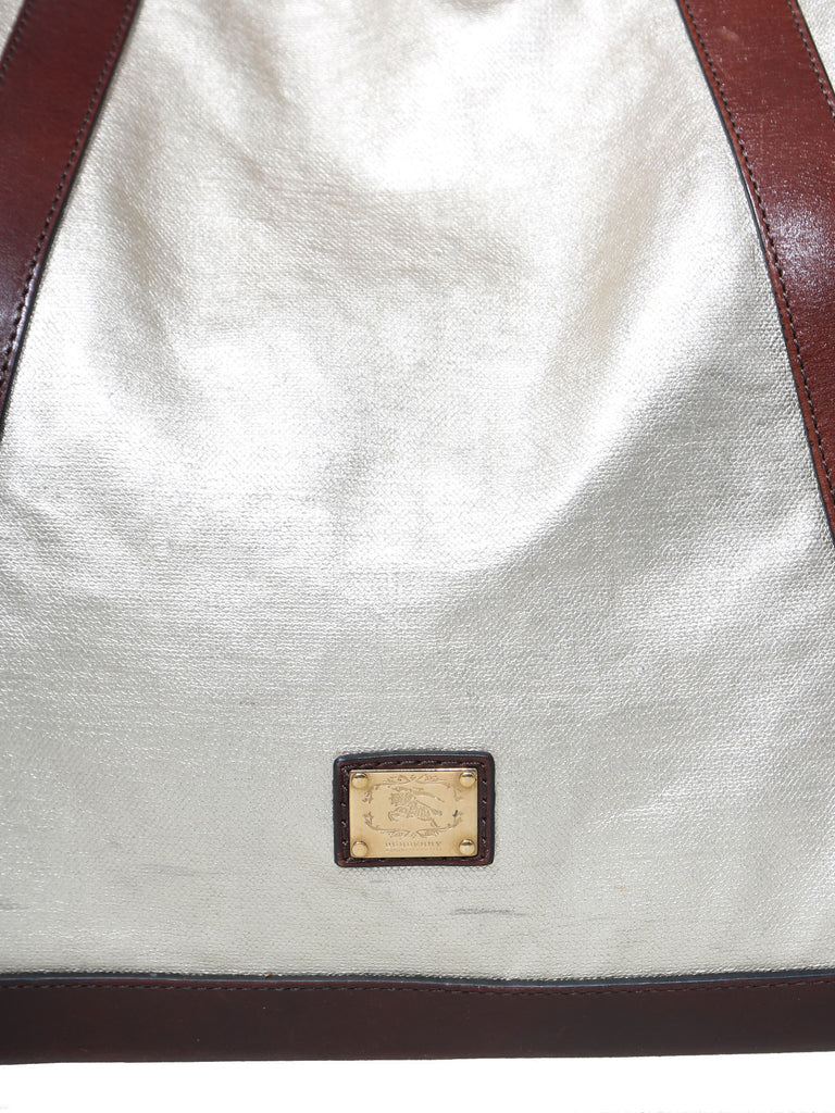 Burberry Metallic Tote Bag