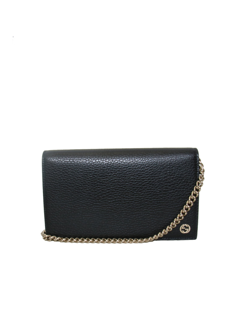 Gucci Betty Leather Wallet on a Chain