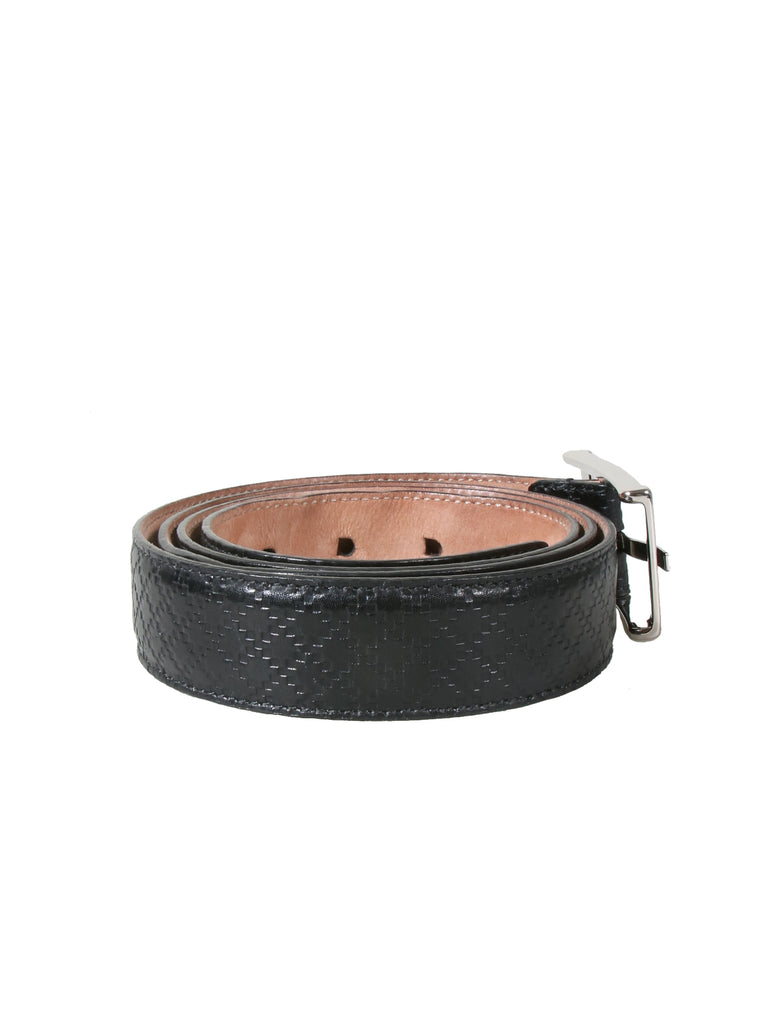 Gucci Embossed Leather Belt