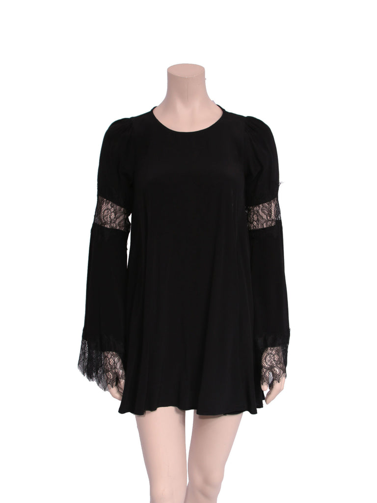 For Love & Lemons Lace Bell Sleeve Dress