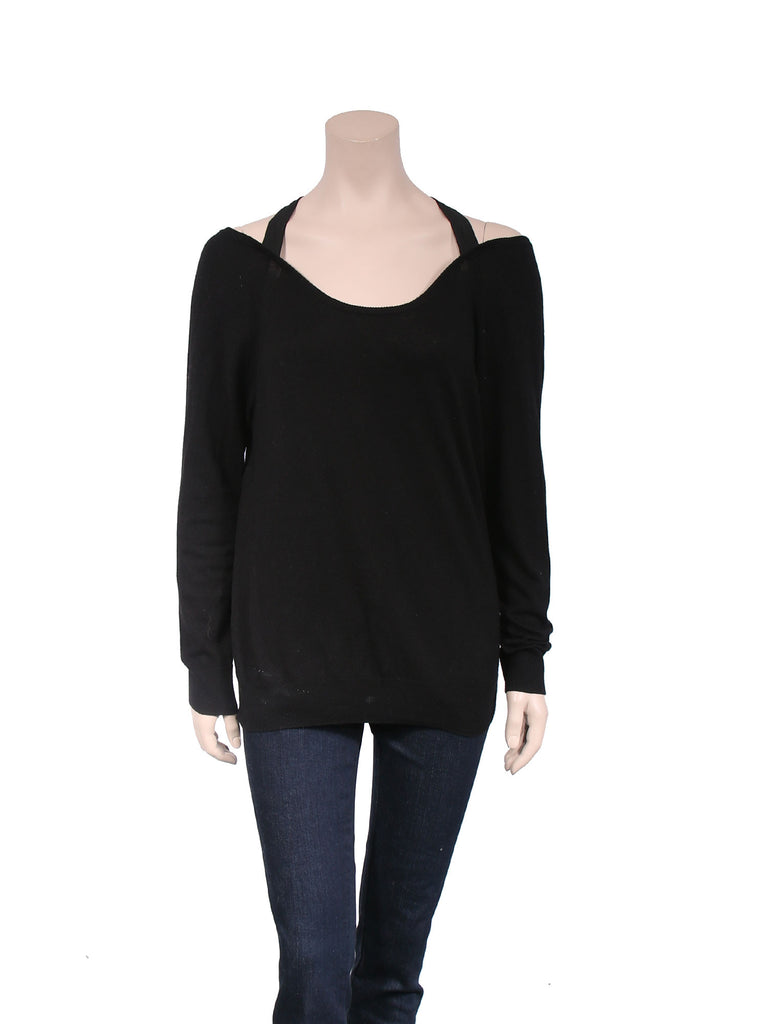 Sandro Cut-Out Knit Top