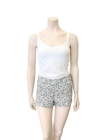 Elizabeth and James Printed Silk Shorts