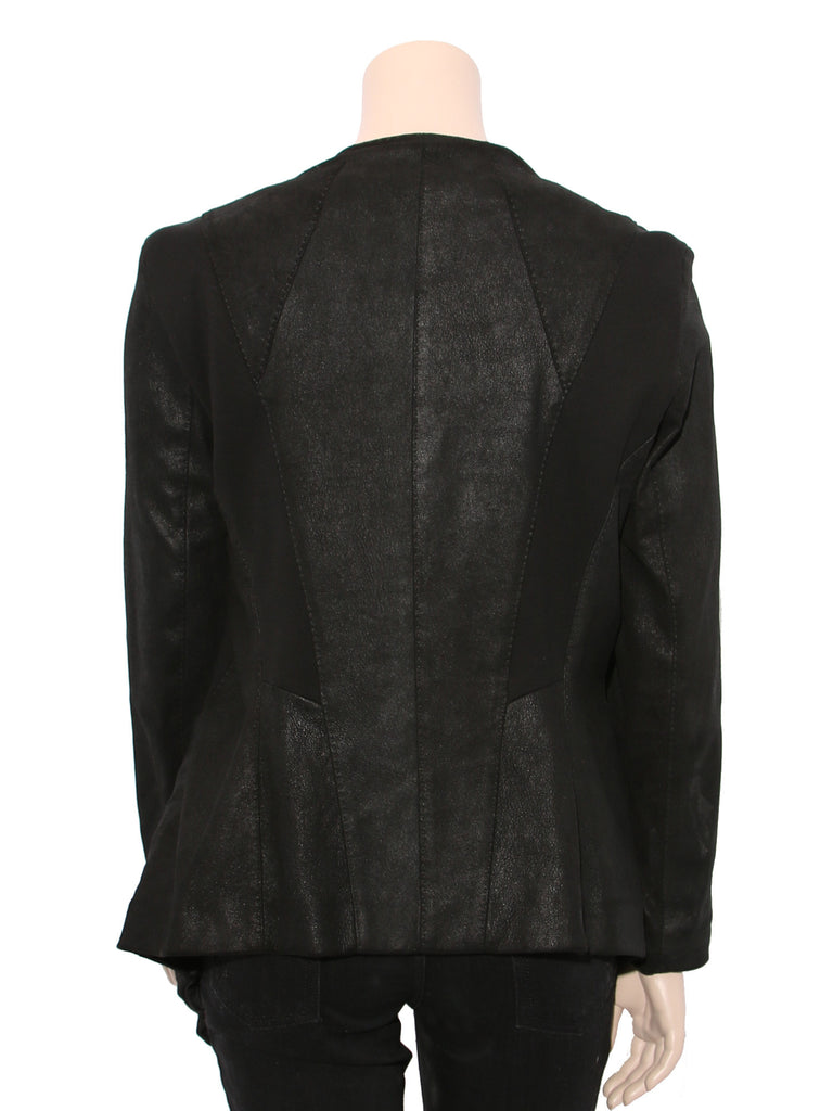 Donna Karan Draped Leather Jacket